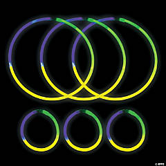 Glow Mardi Gras Tri-Color Glow Party Assortment