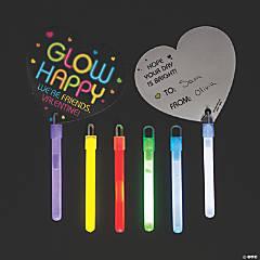 Glow Sticks with Valentine's Day Cards