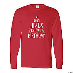Go Jesus It's Your Birthday Adult's T-Shirt - XL