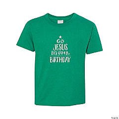 Go Jesus It's Your Birthday Youth T-Shirt - Large