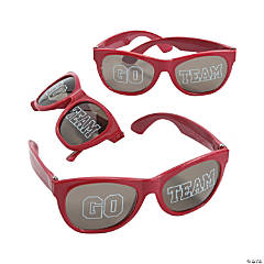 Go Team Burgundy Sunglasses