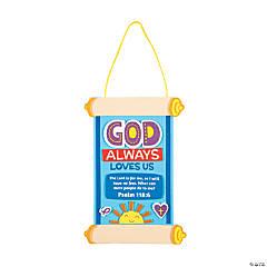 God Always Love Us Scroll Sign Craft Kit