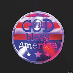 God Bless America Light-Up Sticker Badges