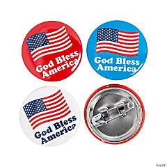 God Bless America Mini Buttons