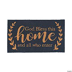 God Bless This Home Door Mat