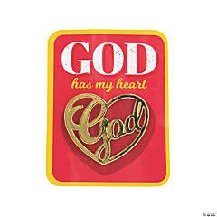 God Has My Heart Enamel Pins