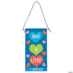 God is Love Banner Craft Kit - Less than Perfect