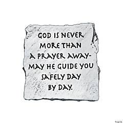 God Is Never More Than A Prayer Away Visor Clip