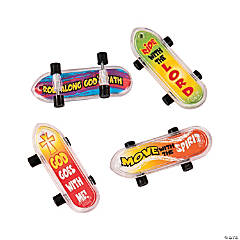God is with Me Mini Skateboards