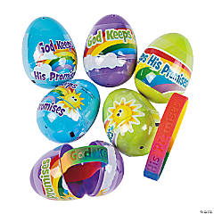 God Keeps His Promises Bracelet-Filled Plastic Easter Eggs - 12 Pc.