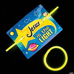 God's Galaxy VBS Glow Bracelets with Card