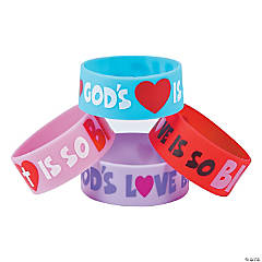 God's Love Big Band Rubber Bracelets