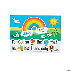 God's Love Rebus Mini Sticker Scenes