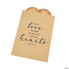 God's Love Wedding Kraft Paper Treat Bags