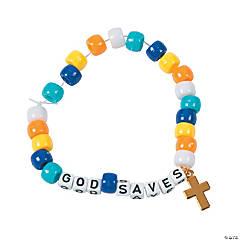 God Saves Pony Bead Bracelet Craft Kit
