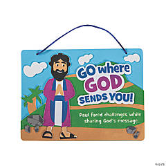 God Sends Paul Sign Craft Kit