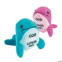 God Whaley Loves Me Stuffed Whales