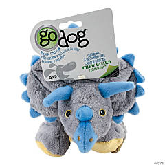 goDog Dinos Frills with Chew Guard Large-Gray