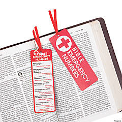 God's Emergency Numbers Bookmarks