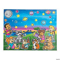 God's Galaxy VBS Sticker Scenes