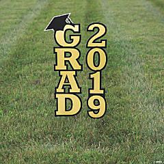 Gold 2019 Grad Yard Signs