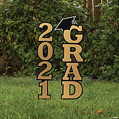 Gold 2021 Grad Yard Signs