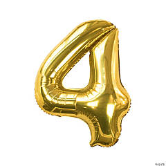 Gold 4 Shaped Number 34