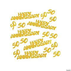 Gold 50/Happy Anniversary Confetti 2 oz