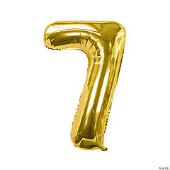 Gold 7 Shaped Number 34