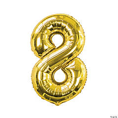 Gold 8-Shaped Number 34