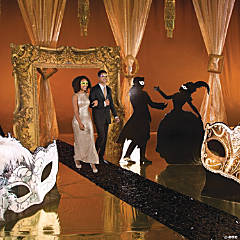 Gold & Black Masquerade Ball Grand Event Supplies