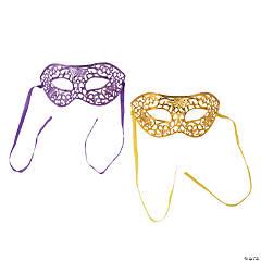 Gold & Purple Masquerade Masks
