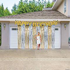 Gold & Silver Birthday Garage Decorating Kit