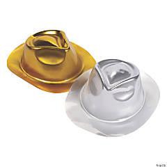 Gold & Silver Metallic Fedoras
