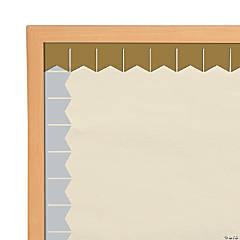 Gold & Silver Metallic Pennant Bulletin Board Border