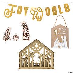 Gold & Silver Nativity Decorating Set