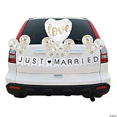 Gold & White Balloon Wedding Car Parade Decorating Kit