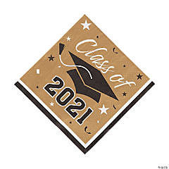 Gold Class of 2021 Luncheon Napkins
