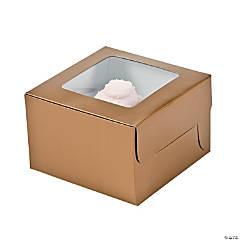 Gold Cupcake Boxes