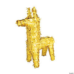 Gold Donkey Piñata