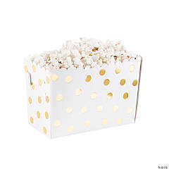 Gold Dot Popcorn Box Food Trays