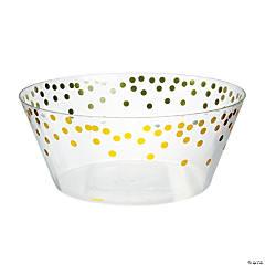 Gold Dot Serving Bowl