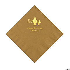 Gold Fiesta Personalized Napkins with Gold Foil - Luncheon
