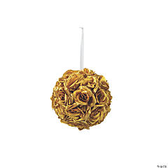 Gold Floral Kissing Ball