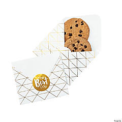 Gold Foil Envelope Treat Bags with Stickers