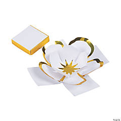 Gold Foil Flowers in Favor Boxes