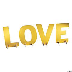 Gold Foil Love Tabletop Sign