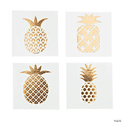 Gold Foil Pineapple Tattoo Assortment