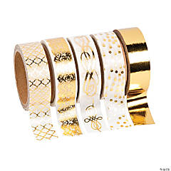 Gold Foil Print Washi Tape