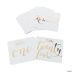 Gold Foil Table Numbers 1-24